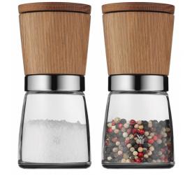Komplet 2 młynków Nature Glass do soli i pieprzu