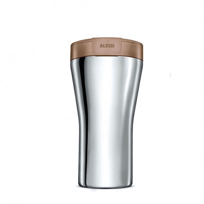 Kubek termiczny Caffa 400ml brązowy