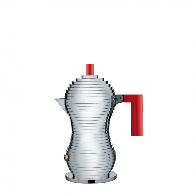 Kawiarka ciśnieniowa aluminiowa Pulcina 1-filiż. czerwona