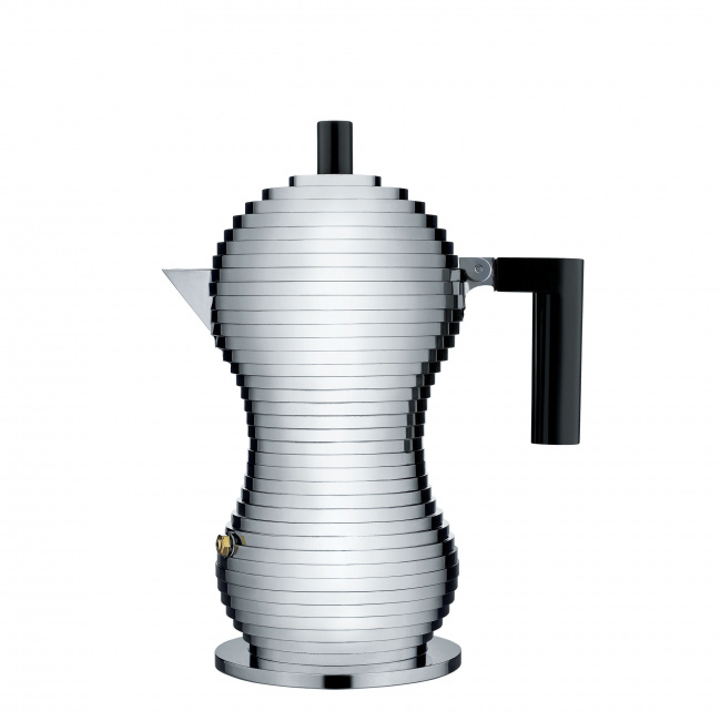 Kawiarka ciśnieniowa aluminiowa Pulcina 3-filiż. czarna