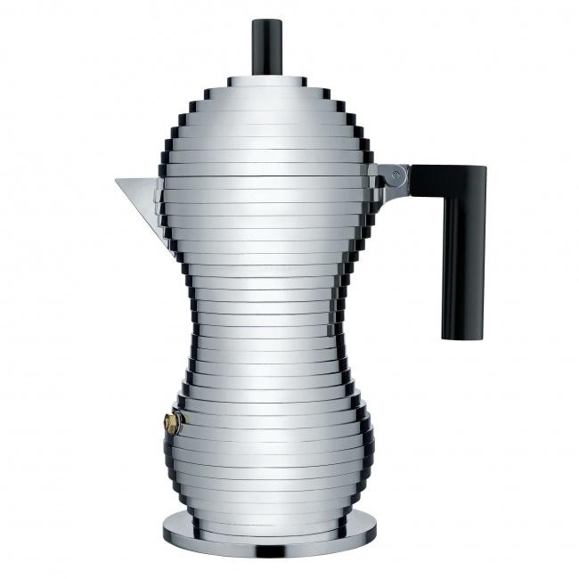 Kawiarka ciśnieniowa aluminiowa Pulcina 6-filiż. czarna
