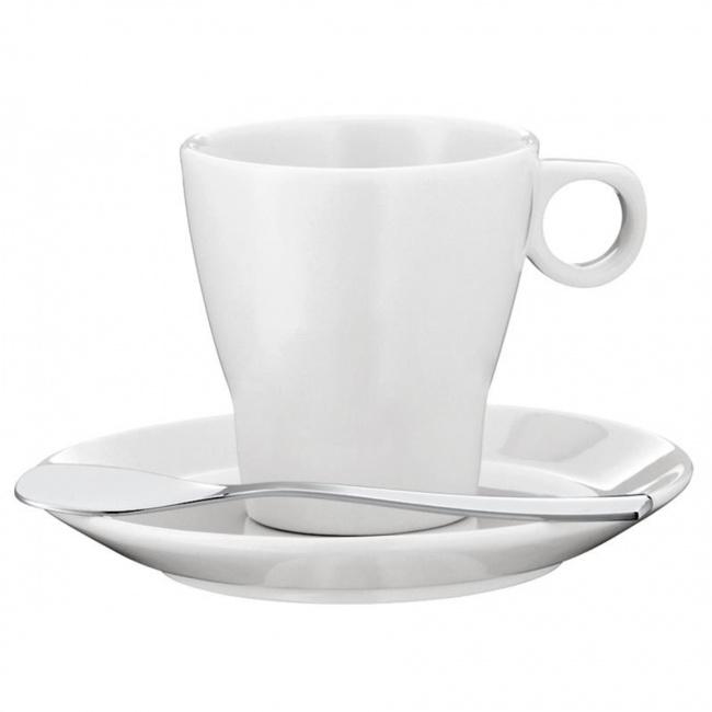 Filiżanka ze spodkiem Barista 60ml do espresso + łyżeczka