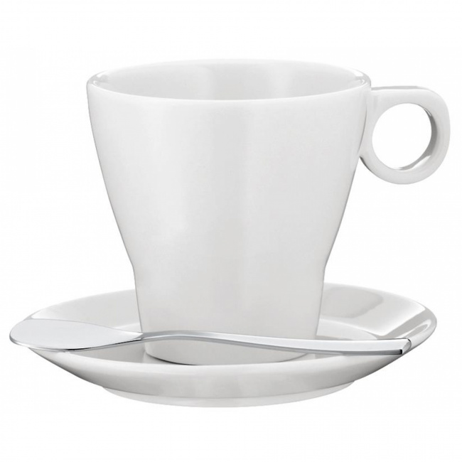 Filiżanka ze spodkiem Barista 100ml do espresso + łyżeczka