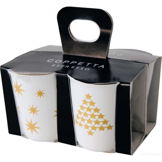 Kubek do espresso 100ml choinka złota (1 sztuka mix)