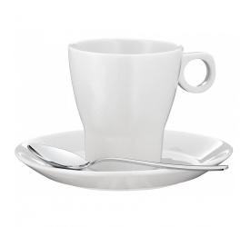 Filiżanka ze spodkiem Barista 150ml do kawy + łyżeczka