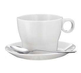Filiżanka ze spodkiem Barista 225ml do kawy/herbaty + łyżeczka