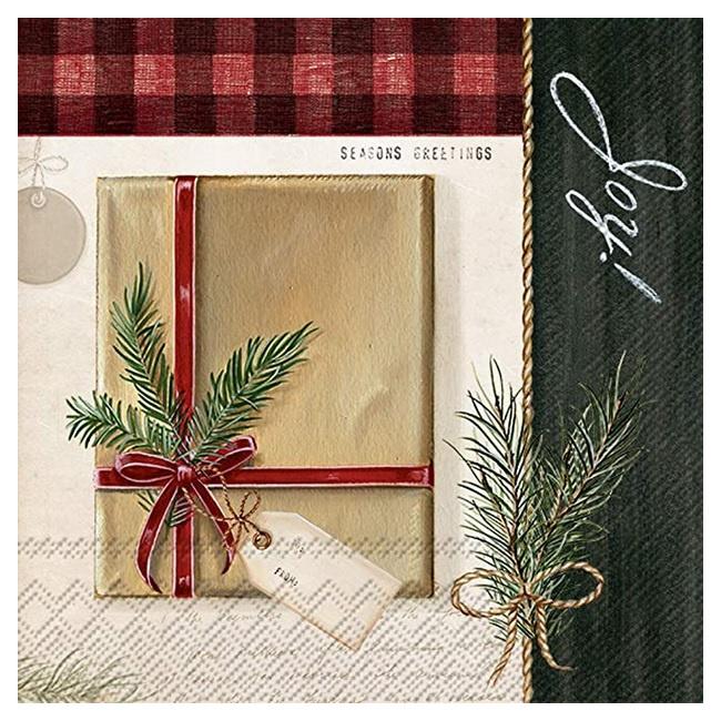 Serwetki 33x33cm Holiday Wrapping 20szt.