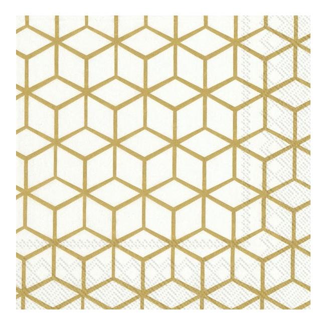 Serwetki 33x33cm Geometry Gold 20szt.