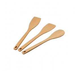 Zestaw 3 łyżek kuchennych drewnianych