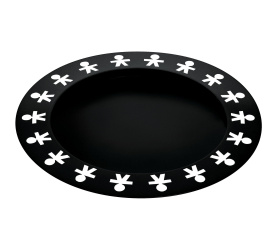 Taca Girotondo 40cm czarna