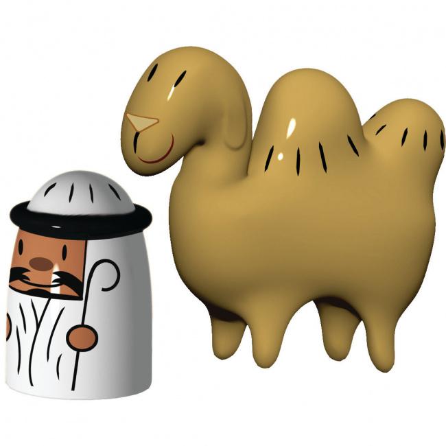 Komplet 2 figurek pasterz i wielbłąd