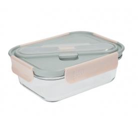 Lunchbox 900ml+ sztućce grey