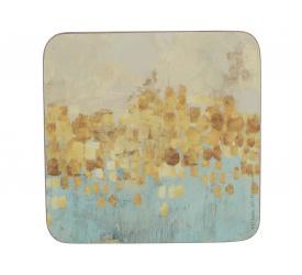 Komplet 6 podkładek 10x10cm Golden Reflections