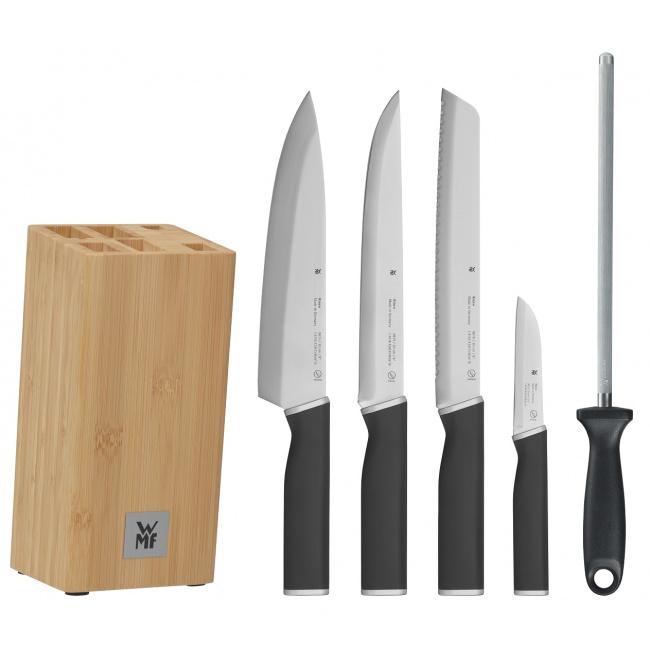 Zestaw 4 noży Kineo + ostrzałka w bloku