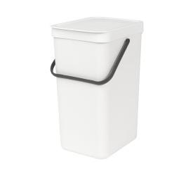 Kosz na odpady Sort & Go 16l biały