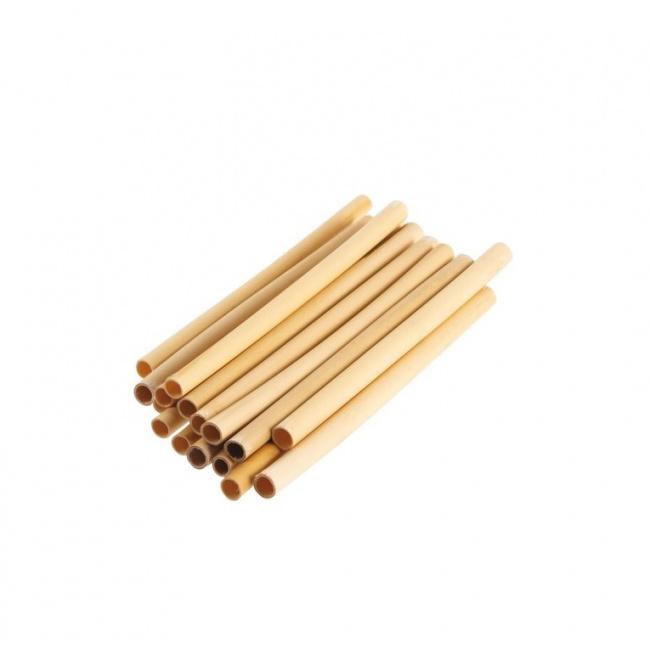 Komplet 24 słomek bambusowych
