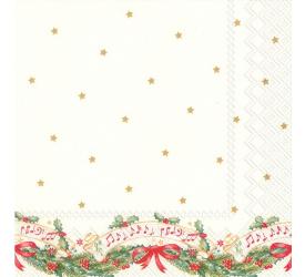 Serwetki 33x33cm Christmas music 20szt.