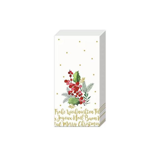 Chusteczki Merry Christmas 21x21cm 10szt.