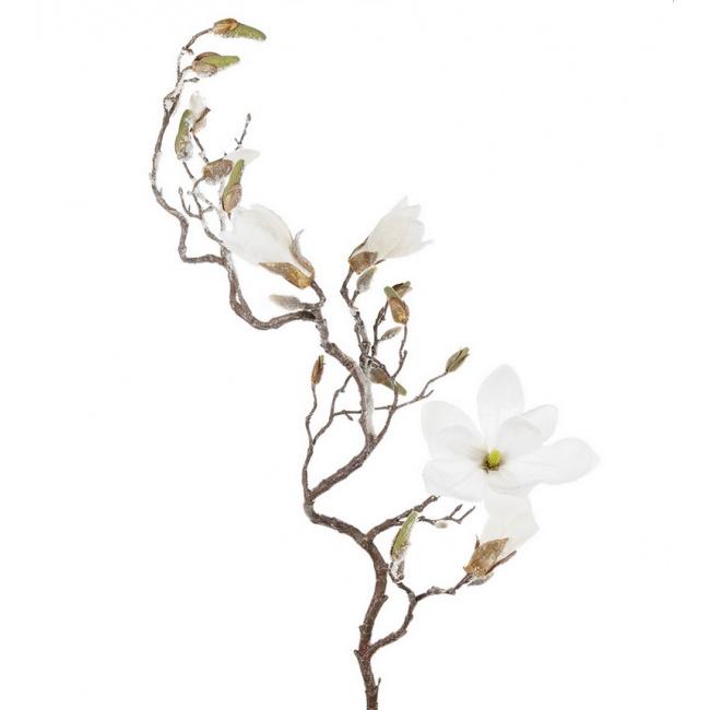 Gałązka Magnolia 140cm biała
