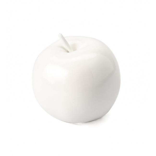 Dekoracja jabłko 8cm białe
