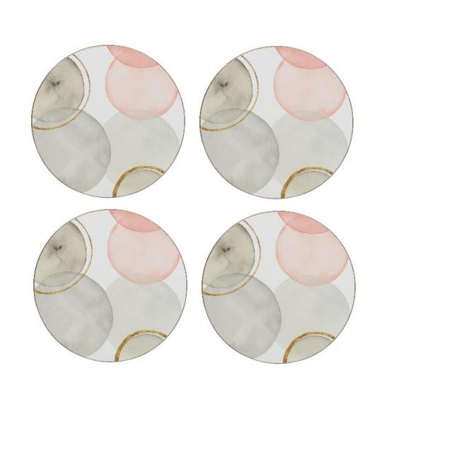 Komplet 4 podkładek 10cm Gilded Spheres