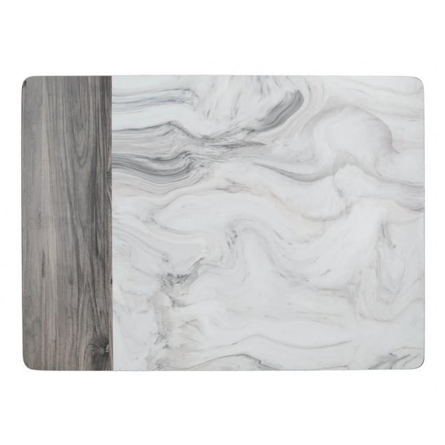 Komplet 6 podkładek 30x23cm Marble