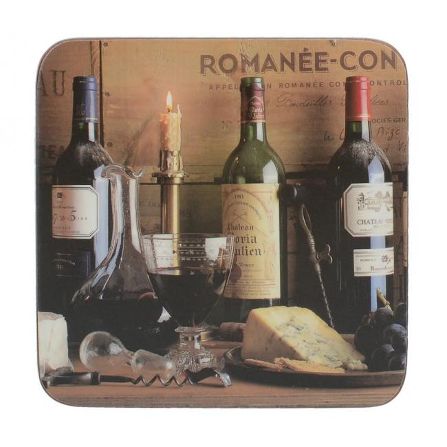 Komplet 6 podkładek 10x10cm Vintage Wine