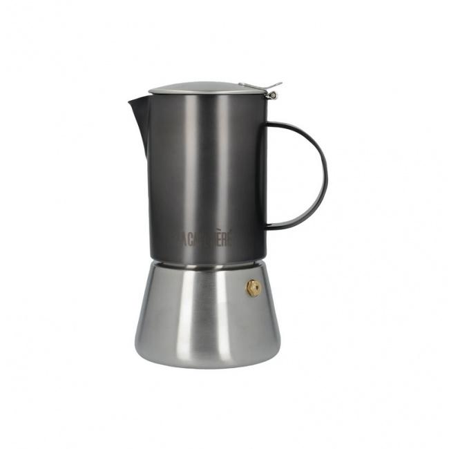 Kawiarka stalowa La Cafetiere do espresso 4-filiż.