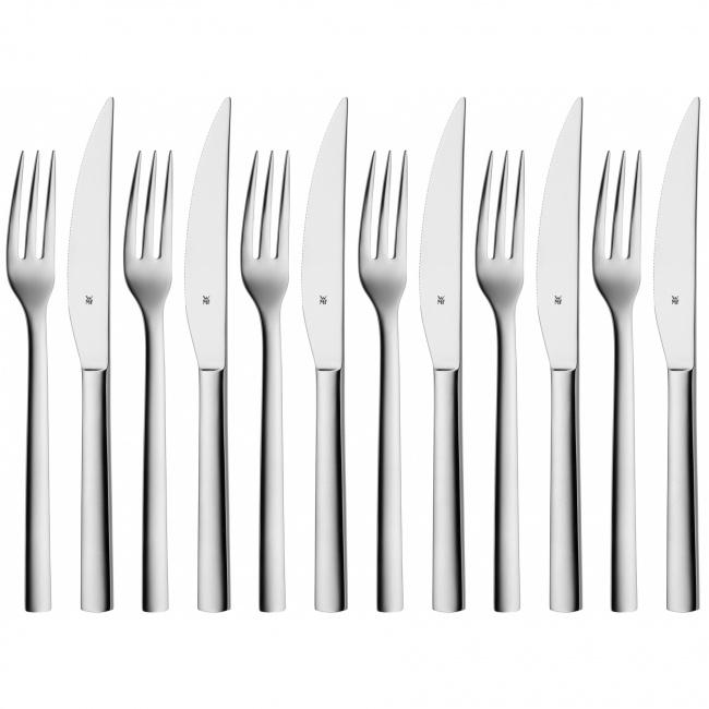 Komplet sztućców do steków Nuova 12 elementów (6 osób)