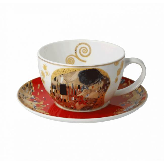 Filiżanka ze spodkiem 250ml do herbaty Pocałunek