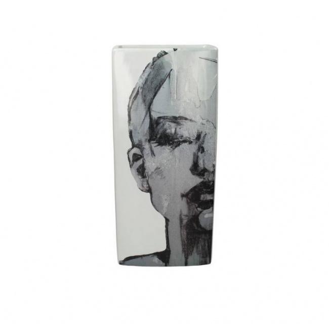 Wazon Art image 48cm szary