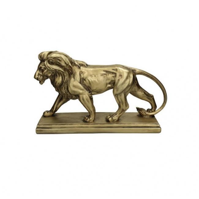 Figurka Lew 43x26cm złota