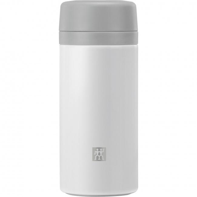 Pojemnik termiczny Thermo 420ml z zaparzaczem do herbaty biały