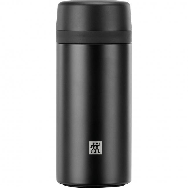 Pojemnik termiczny Thermo 420ml z zaparzaczem do herbaty czarny