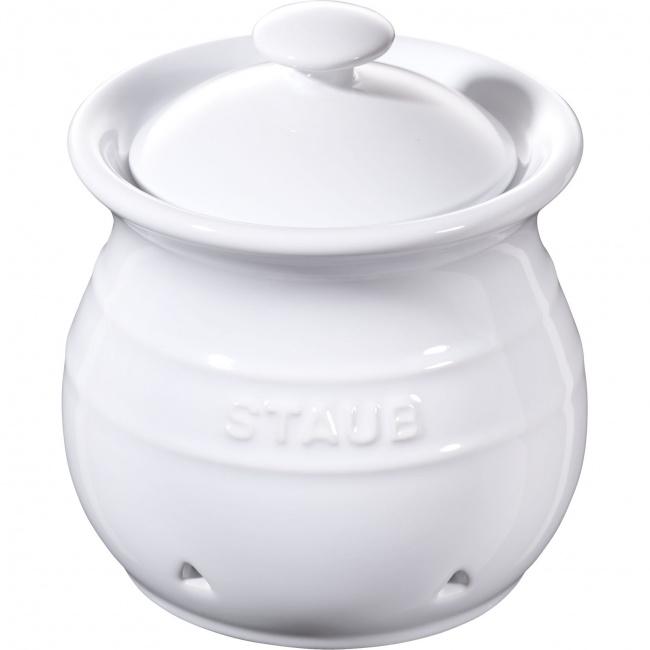 Pojemnik Storage 500ml do przechowywania czosnku biały
