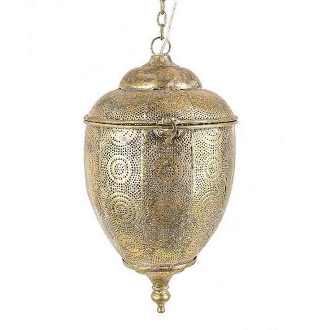 Lampa wisząca 40x22cm złota