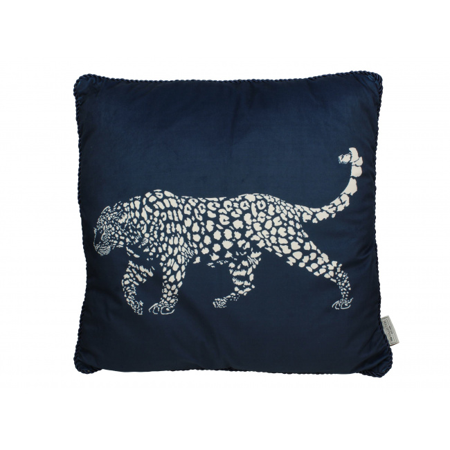 Poduszka Velvet Blue Leopard