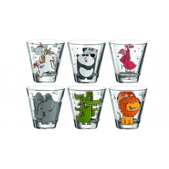 Komplet 6 szklanek Bambini