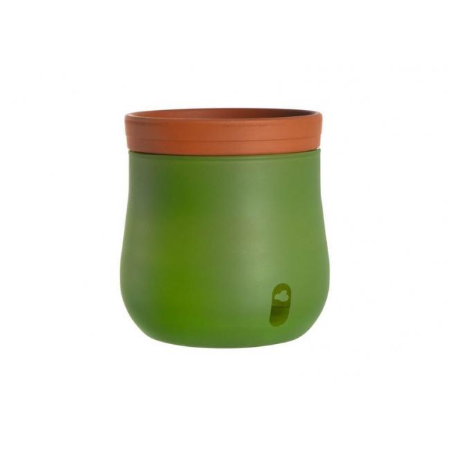 Komplet 2 doniczek Serra 15x16cm zielone