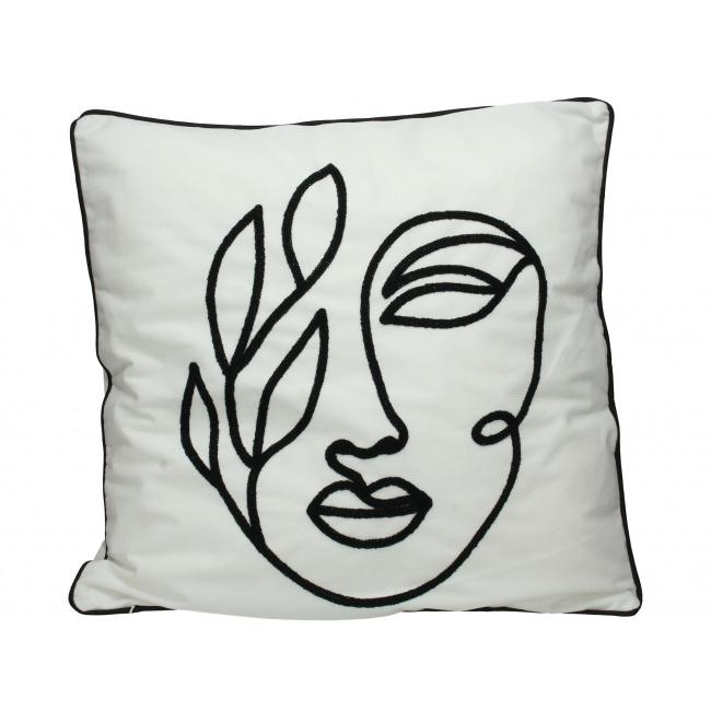 Poduszka Velvet Face White
