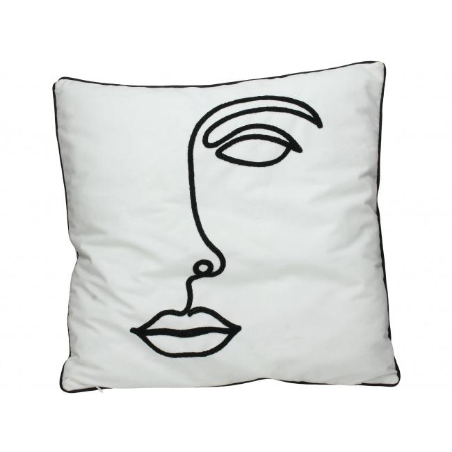 Poduszka Velvet Face White II