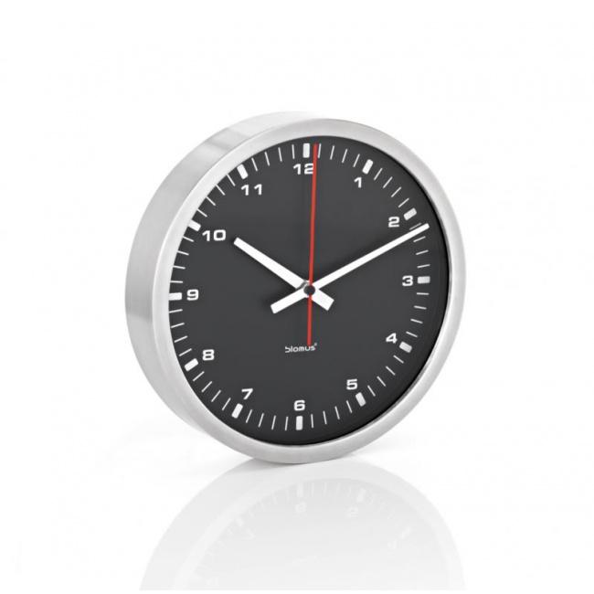 Zegar ścienny Era 24cm czarny mat
