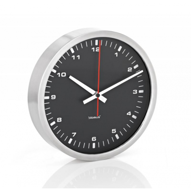 Zegar ścienny Era 30cm czarny mat