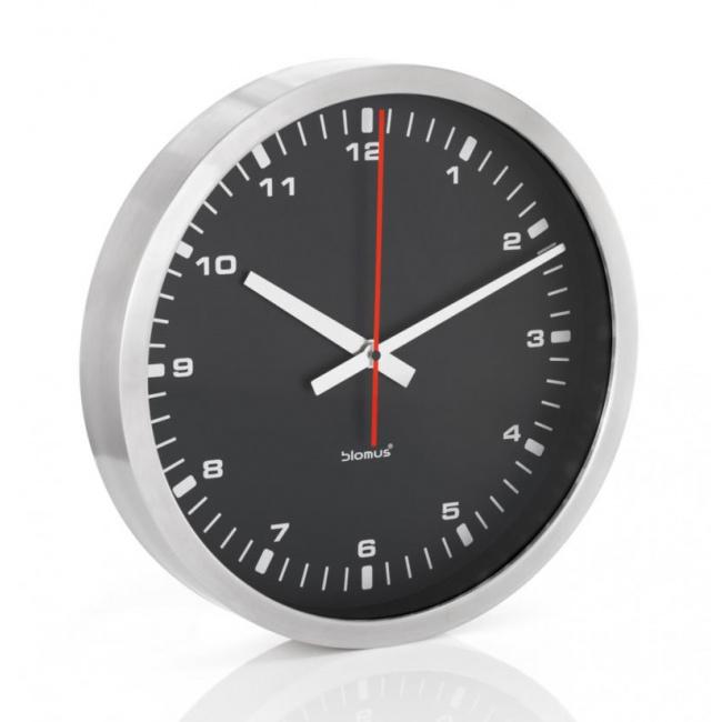 Zegar ścienny Era 40cm czarny mat