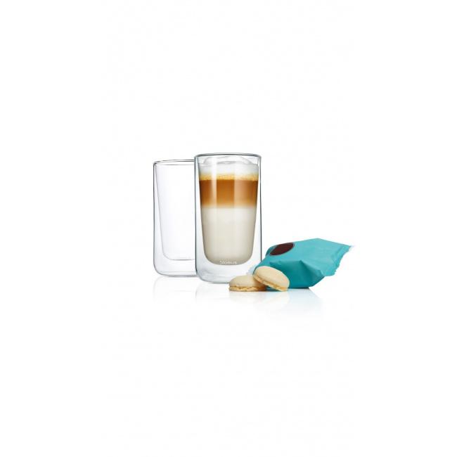 Zestaw 2 szklanek Nero 320ml do latte