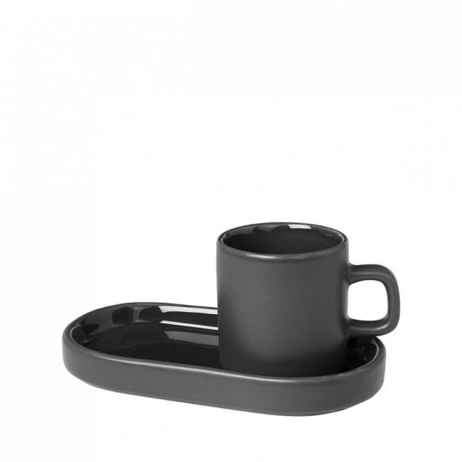 Komplet 2 filiżanek Pilar 50ml do espresso ze spodkami Agave Green