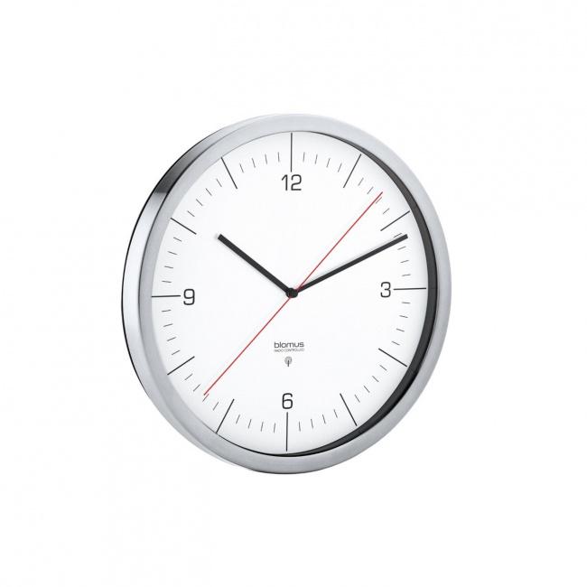 Zegar Crono 24cmsterowany radiem biały