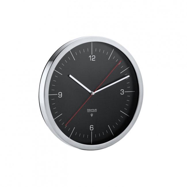 Zegar Crono 24cm sterowany radiem czarny