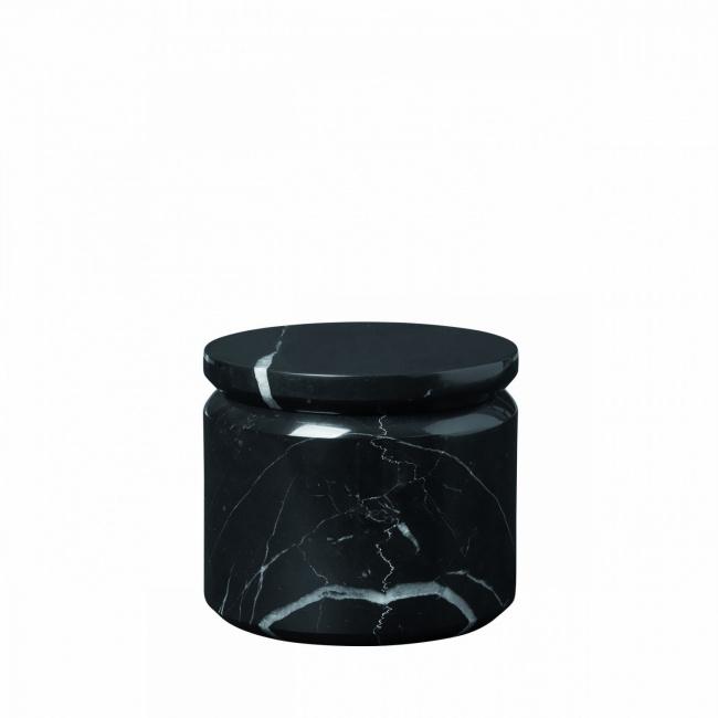 Pojemnik Pesa 9cm marmurowy czarny