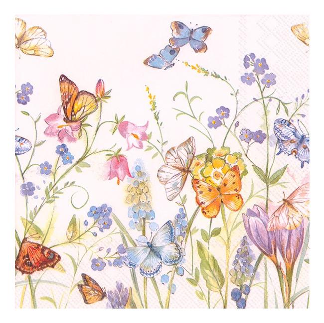 Serwetki 33x33cm Butterflies and Blossoms 20szt.